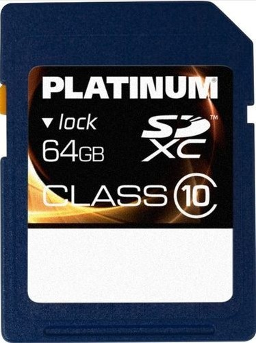 platinum sdxc karte 64gb speicherkarte sd card class 1033. Black Bedroom Furniture Sets. Home Design Ideas