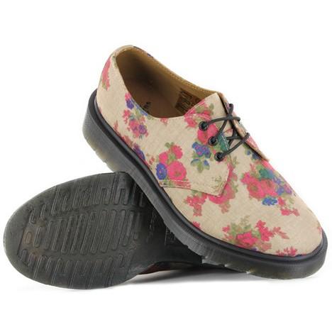 美式复古 Dr.Martens复古印花女鞋