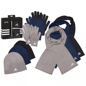 Adidas手套 围巾 帽子三件套