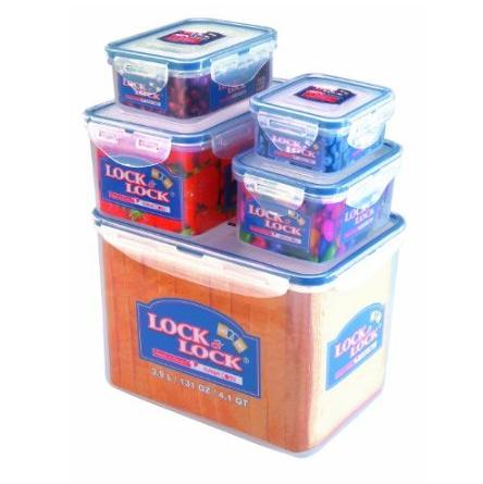 Lock&Lock 居家助手乐扣保鲜盒五件装