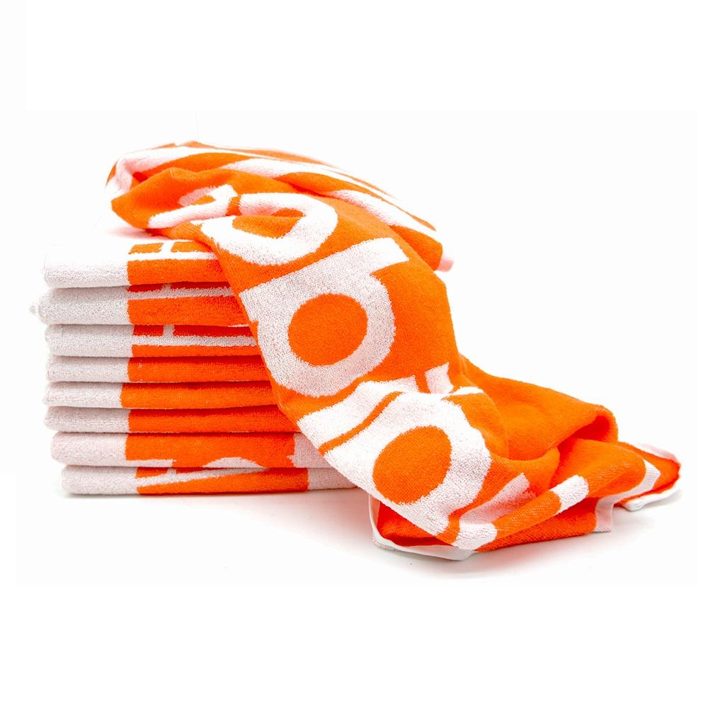 Adidas运动浴巾两条双色装100%全棉