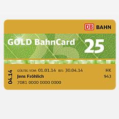 金卡Bahncard 25