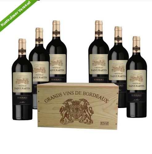 Cháteau Saint-Martin 木盒6瓶装波尔多红酒礼盒