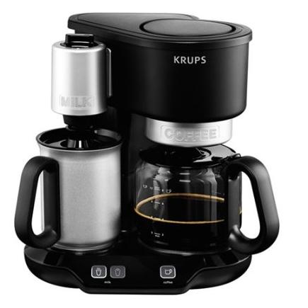 Krups 2-in-1-Filterkaffeemaschine mit Milchaufschäumer