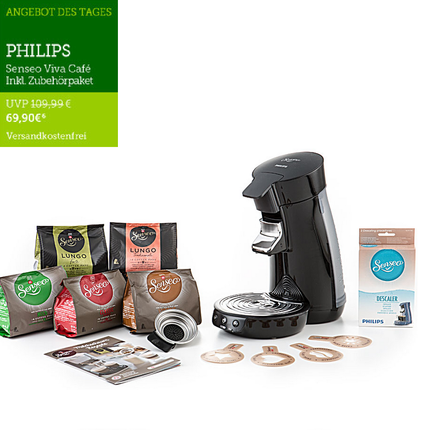 PHILIPS Senseo咖啡机+5包咖啡Pad