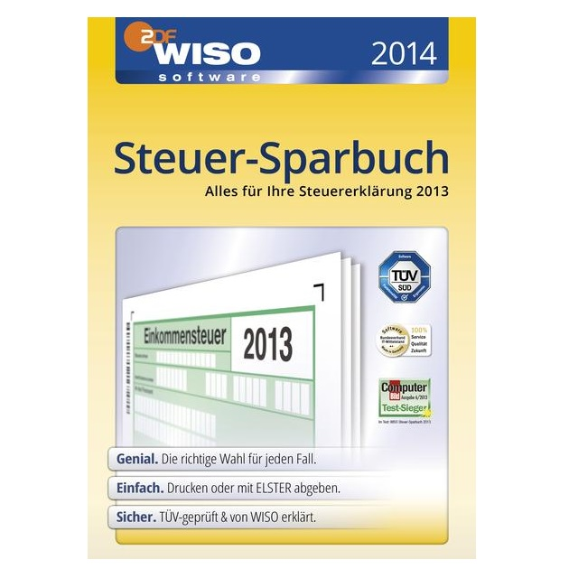 退税软件WISO Steuer-Sparbuch2014(für Steuerjahr2013)