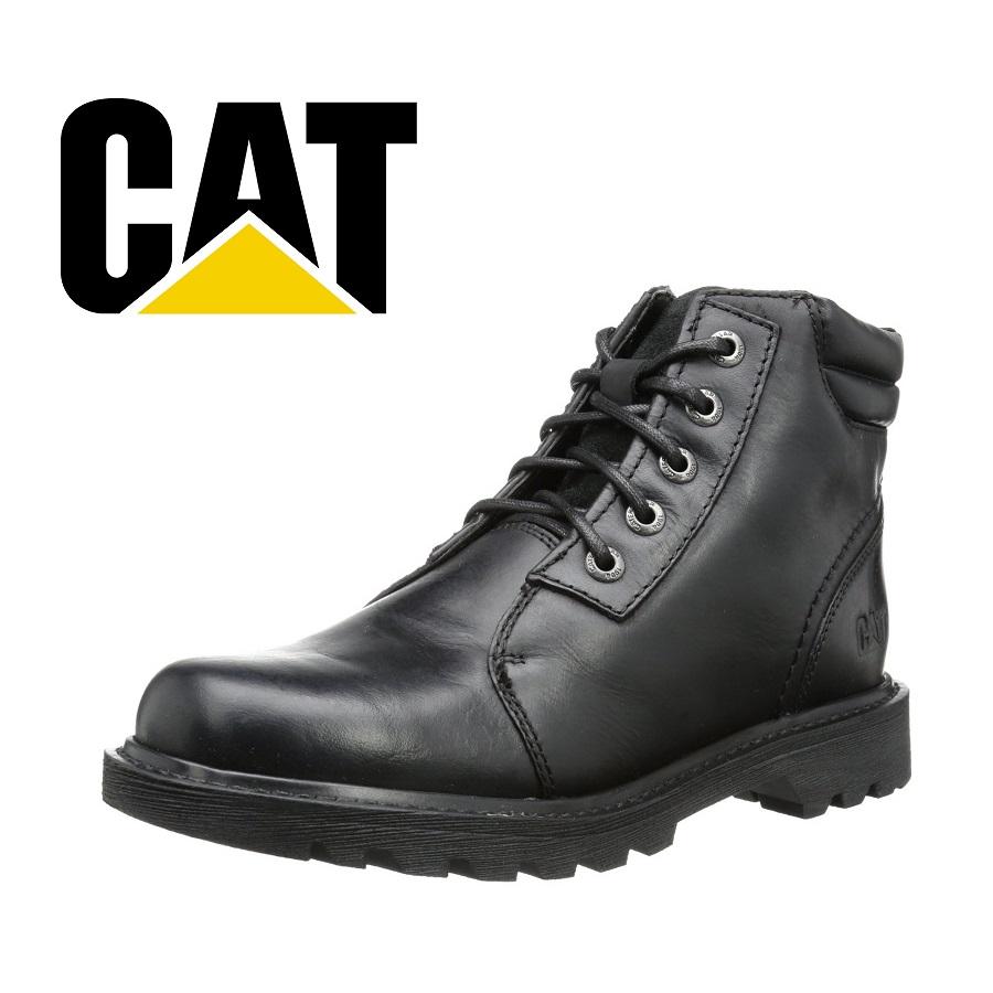 cat男式真皮工装靴特价四折仅39