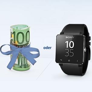 Postbank 开户奖励100欧或索尼SmartWatch 2手表