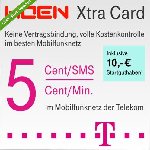Telekom 无合同预存10欧话费手机卡
