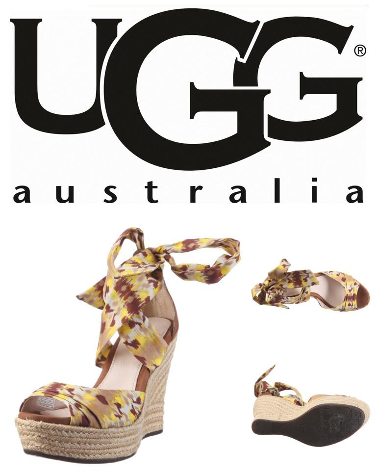 UGG的夏日风情 绑带草编底凉鞋