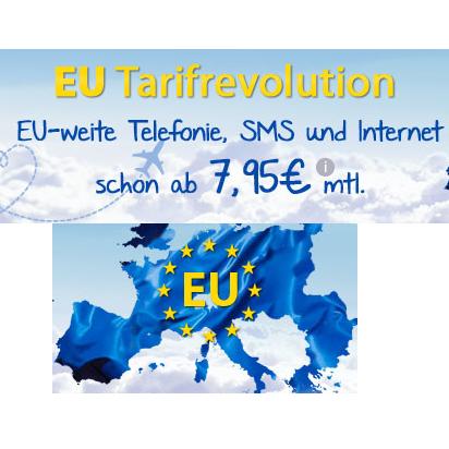 欧盟通话、短信免费 欧盟100-300MB无合同手机卡