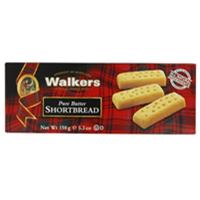 吮指的美味 苏格兰Walkers黄油手指饼干6盒x 150g装