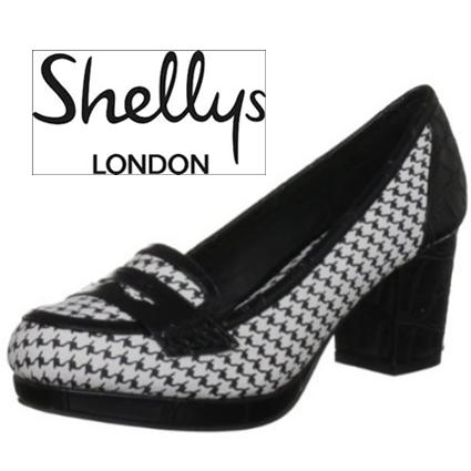 Shellys London复古粗高跟