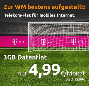 德国电信Telekom家3GB大流量上网卡世界杯特价活动