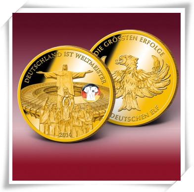 德国获2014世界杯冠军 纪念币 原价66.50欧
