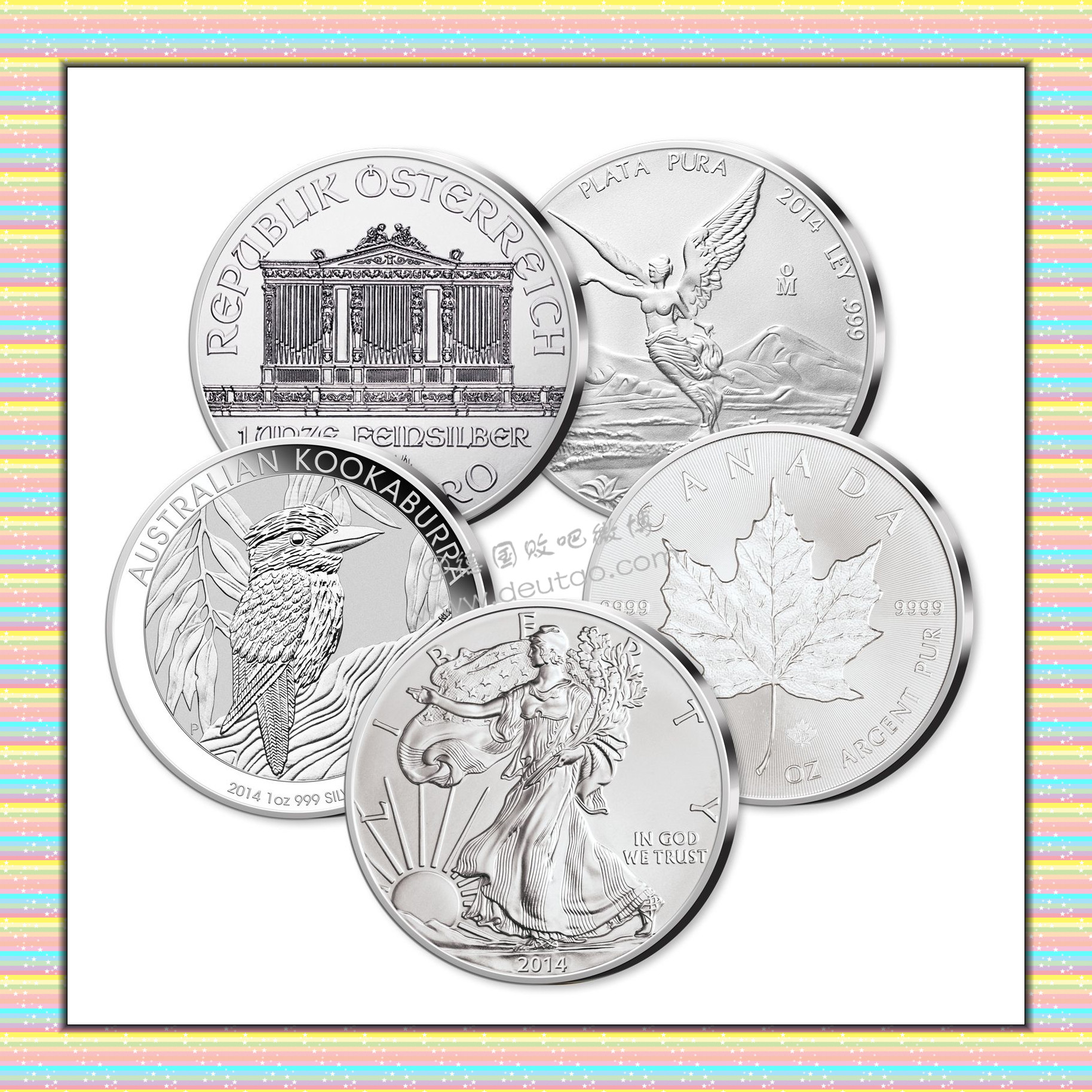 世界最著名五种银质纪念币 2014年版