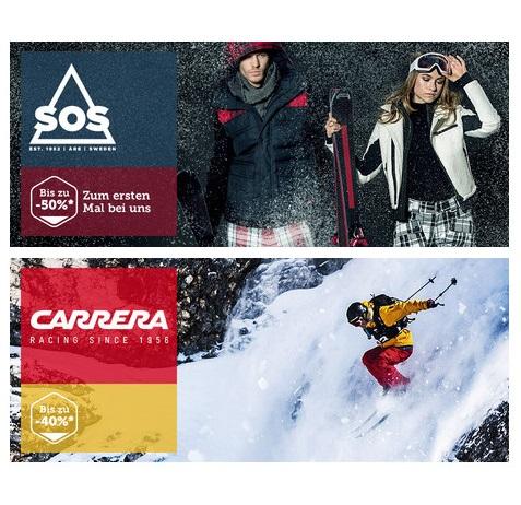 冰雪中的乐趣 SOS户外/滑雪服+Carrera滑雪头盔/护目镜