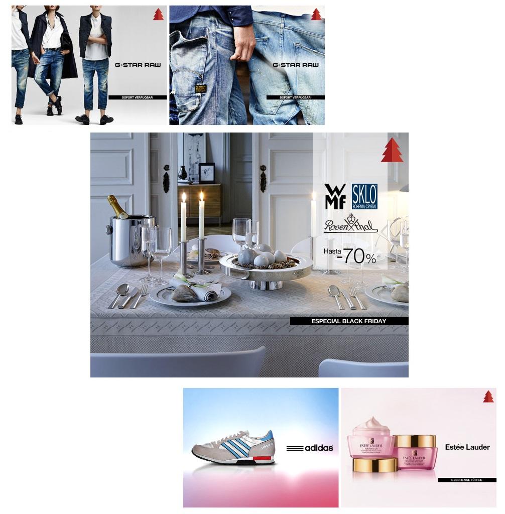 G-Star男女服饰/雅诗兰黛护肤品/Adidas运动服饰及休闲鞋/WMF等品牌厨具