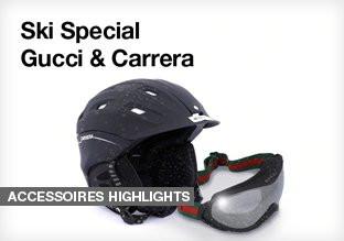 Gucci&Carrera 滑雪头盔 护目镜