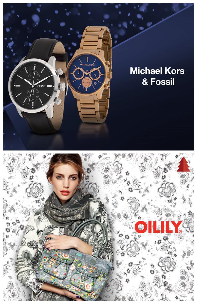 MK&Fossil 手表/Oilily 女包特卖活动