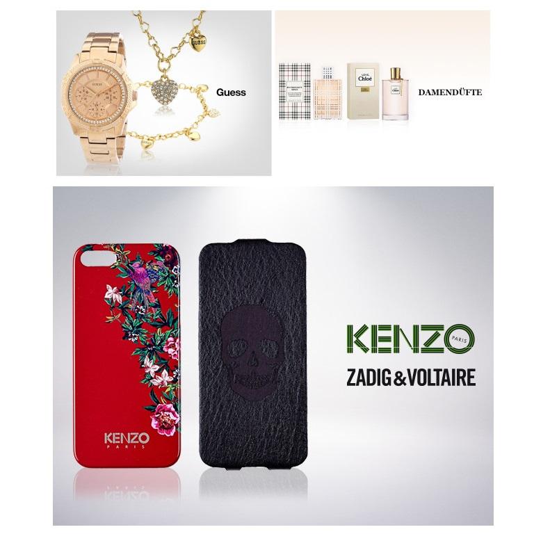 Guess钟表首饰/Kenzo手机套/大牌女士香水特卖活动