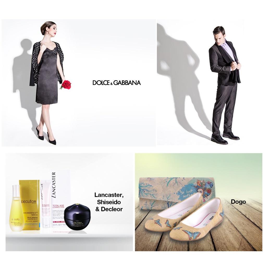 DOLCE & GABBANA男女服饰及童装/Dogo女鞋/LANCASTER, SHISEIDO & DECLEOR护肤品
