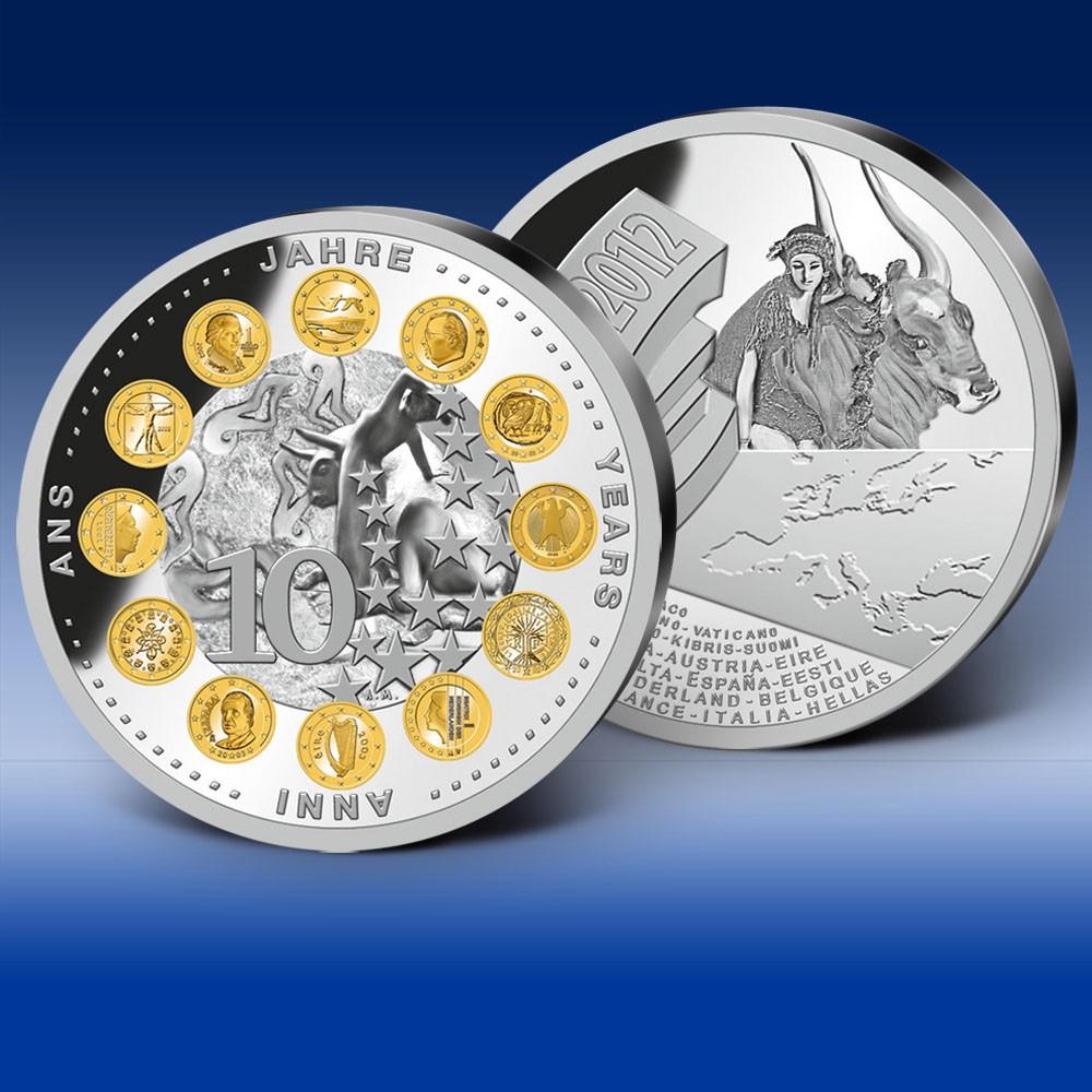 纪念币- 十年欧元之路