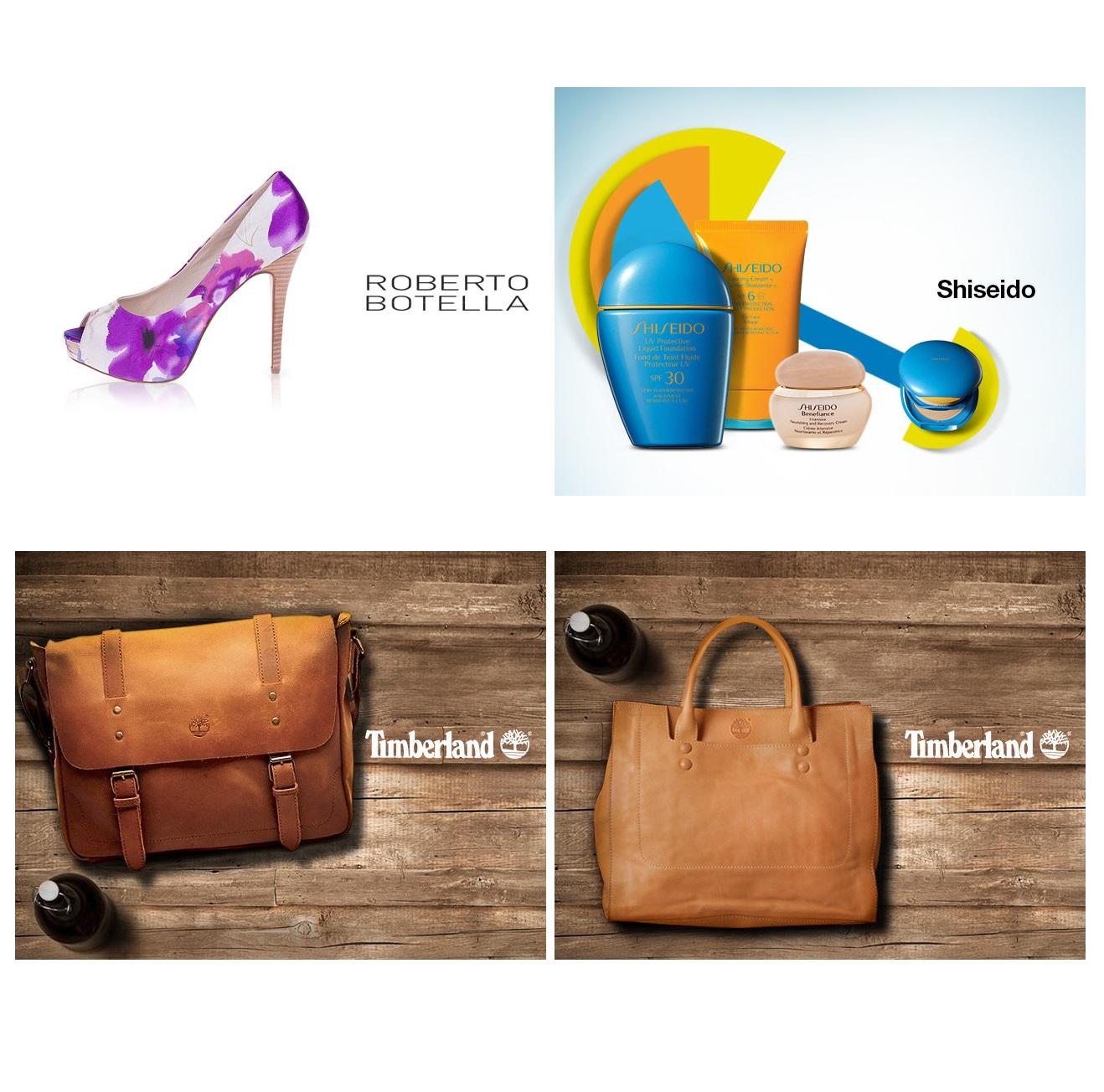 资生堂护肤品/Timberland包袋/Roberto Botella女鞋