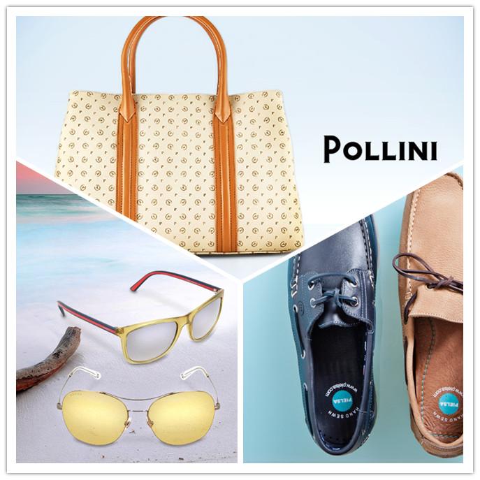 Pollini男女皮鞋箱包/Gucci,Fendi等大牌墨镜/Pielsa平底鞋