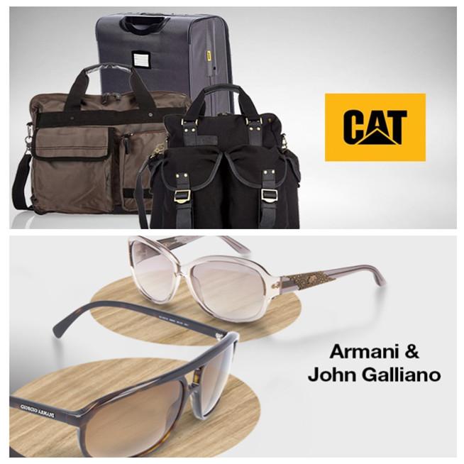 CAT工装帅气风格箱包/Armani & John Galliano太阳镜