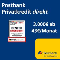 Postbank开通个人信贷