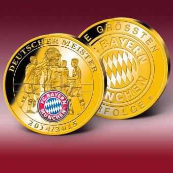 2015拜仁穆尼黑夺冠纪念币