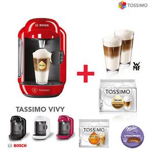 Tassimo VIVY咖啡机+2个WMF咖啡杯+2包咖啡胶囊