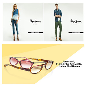 Pepe Jeans英伦潮牌时装/Armani&Gucci等大牌太阳镜