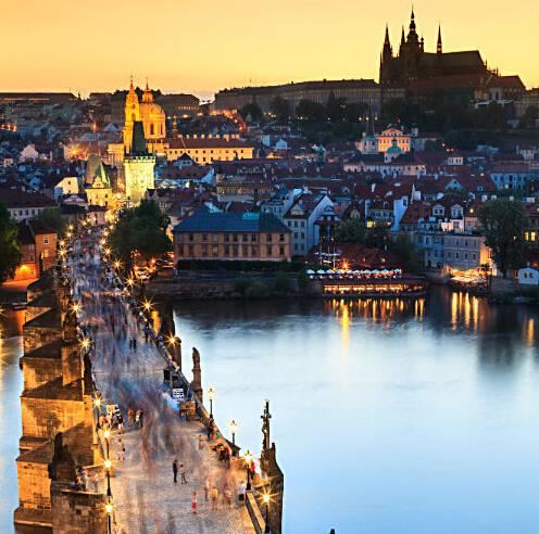 双人三天两夜 4星 布拉格城堡林德纳酒店