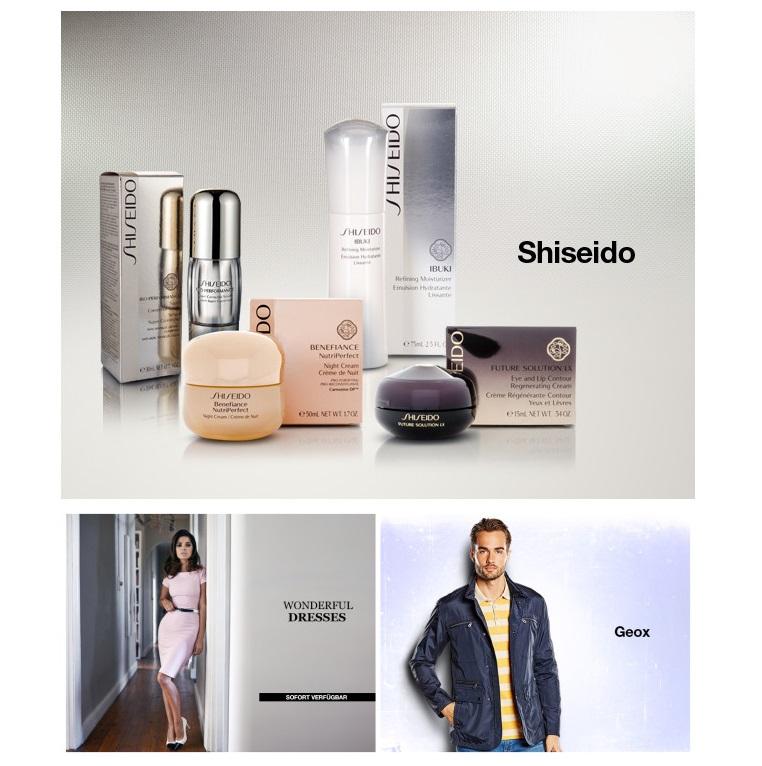 Shiseido资生堂护肤品/时尚连衣裙集锦/Geox男装