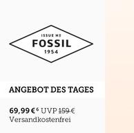 Fossil 男士真皮石英表 双色选