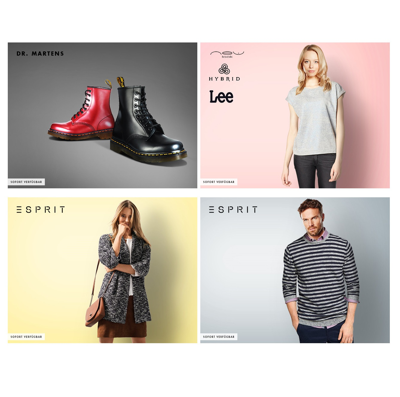 Esprit男女装及饰品/Dr.Martens马丁靴/LEE等休闲女装