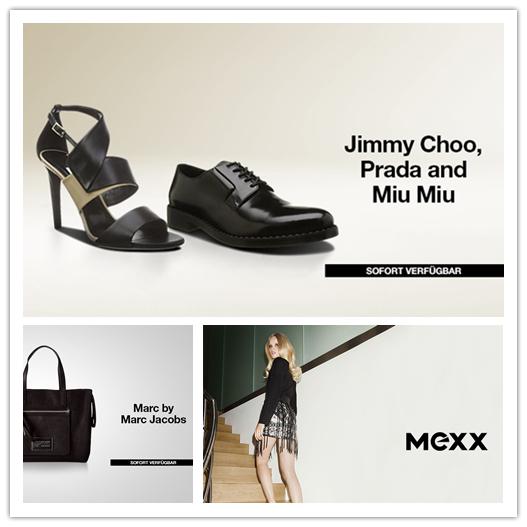 Prada, Miu Miu, Jimmy Choo女鞋/Marc by Marc Jacobs包包/Mexx休闲男女时装