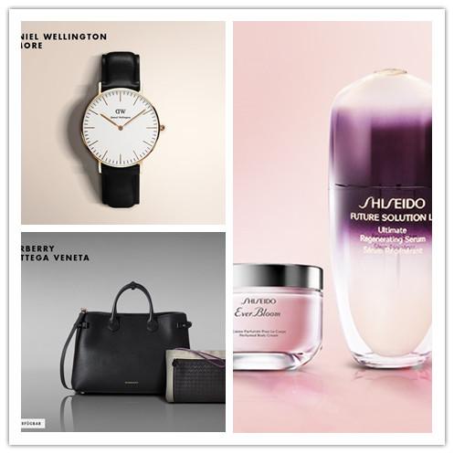 DW & MORE简约手表/SHISEIDO 护肤彩妆/奢华品质BURBERRY, BOTTEGA VENETA包包集锦
