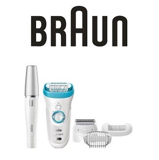 Braun Epil 9 Skin 9-558 干湿两用脱毛器+净肤洁面仪