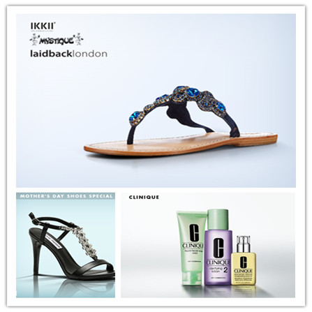 CLINIQUE 美肤用品/MOTHER'S DAY SHOES SPECIAL 母亲节特惠女鞋/IKKII, LAIDBACK LONDON, MYSTIQUE女鞋集锦