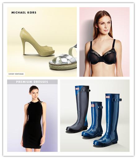 Hunter雨鞋/Michael Kors鞋履包袋/PLAYTEX & WONDERBRA内衣精选/PREMIUM DRESSES连衣裙