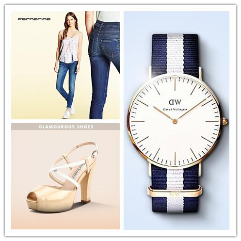 DANIEL WELLINGTON腕表/意大利前卫女装品牌FORNARINA/魅力凉鞋特卖