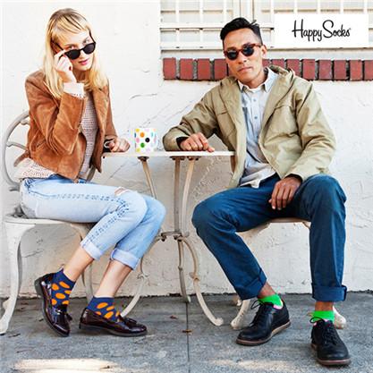 唯一能踏上国际时装舞台的袜子品牌 瑞典Happy Socks闪购