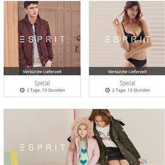 Esprit男女服饰、孕妇装、配饰、内衣、童装等全线特卖