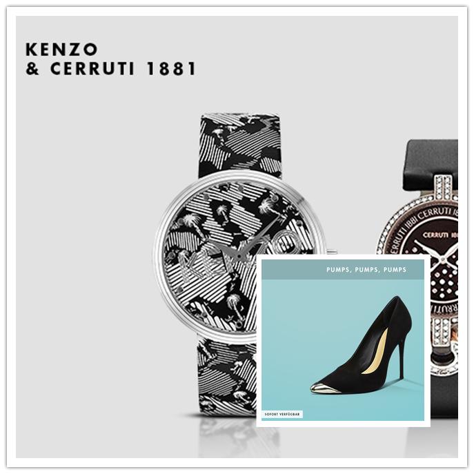Cerruti 1881 / KENZO腕表及 Pumps高跟鞋大聚会