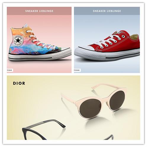 迪奥DIOR墨镜荟萃/vans、Converse等帆布鞋特卖