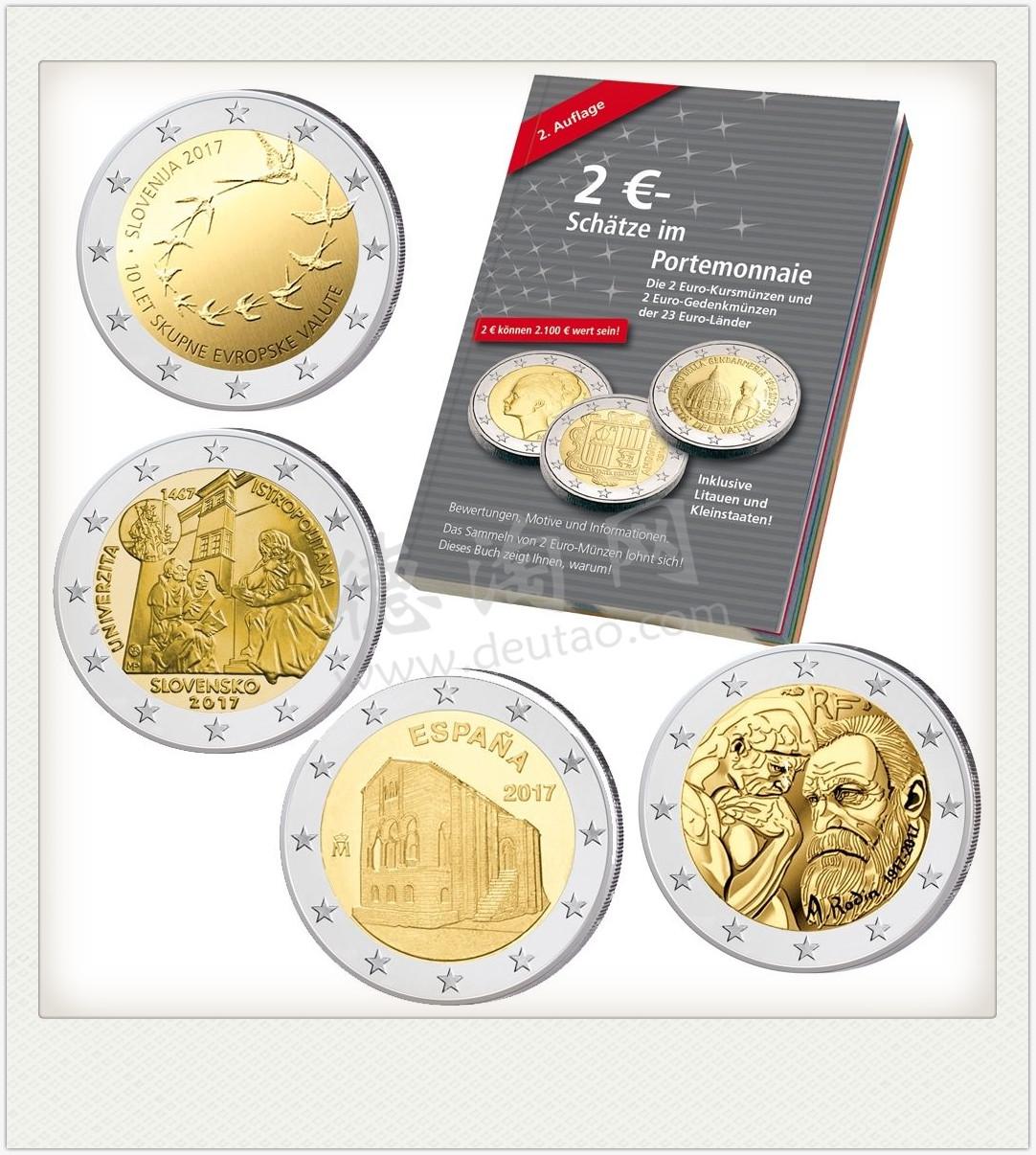 2 Euro Münzen 2017 Spar Set 4 X 2 Euro Plus 2 Euro Spezial Katalog