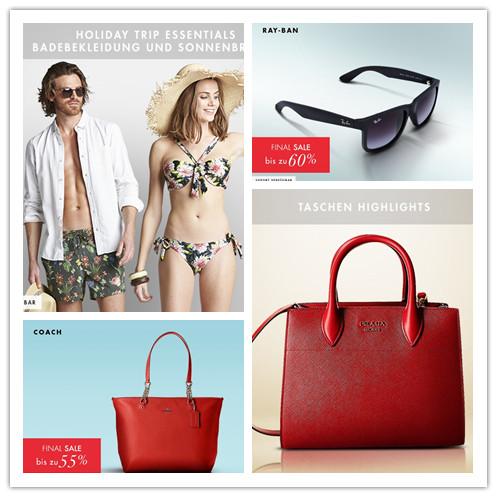 PRADA、Coach等多品牌包包特卖/夏日旅行必备装备特卖/Ray-Ban 墨镜